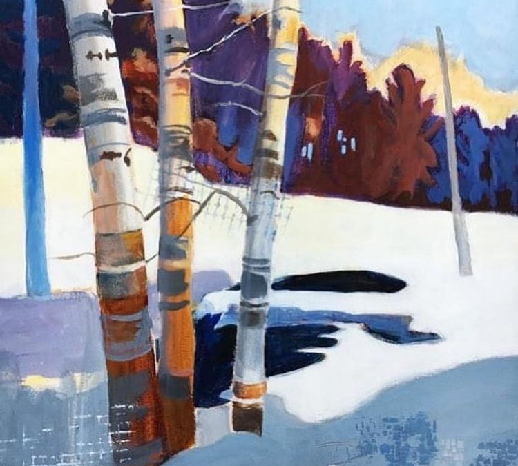 Judy Fawcett's 'Birch Trio' is part of White Bear Center of the Arts 'Northern Lights' exhibit!