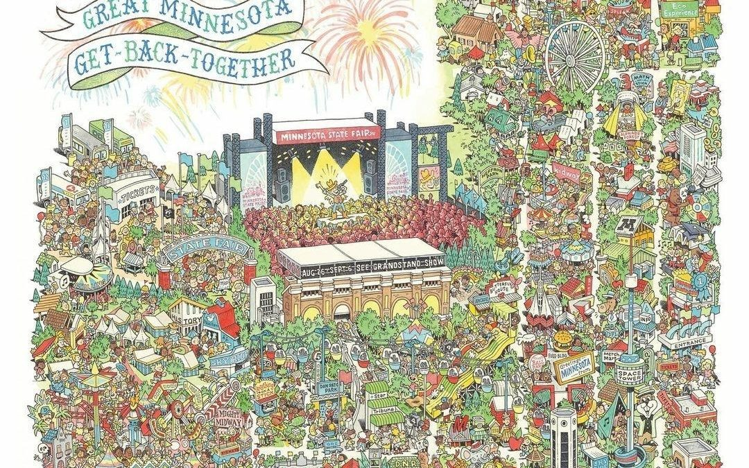 The 2021 Minnesota State Fair Official Commemorative Art By Minnesota Artist Kevin Cannon!